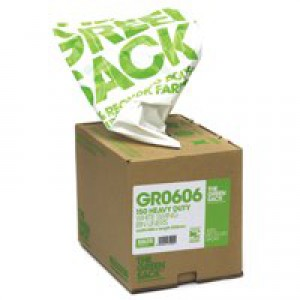 The Green Sack Swing Bin Liner White in Dispenser Pack of 150 VHPGR0606