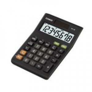 CS 8-digit Tax/Currency Calc. Black