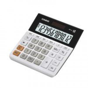 CS 12-digit Landscape Basic Function Calc. White.