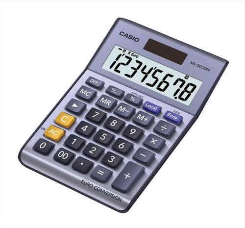 Casio Desktop Calculator 8-digit MS-80ER-S-UH