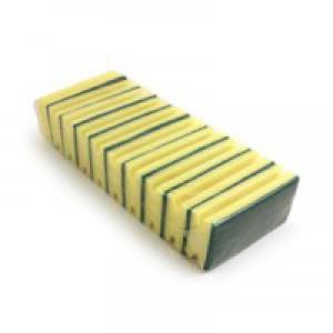 Bentley Sponge Scourer Green/Yellow Pack of 10 SC.03/10