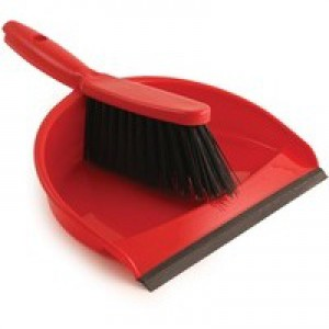 Dustpan and Brush Set Red 8011/R
