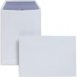 Plus Fabric Envelopes Pocket Press Seal 110gsm C5 White [Pack 250]