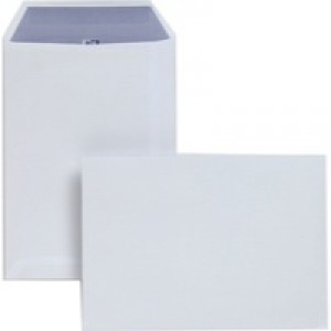 Plus Fabric Envelopes Pocket Press Seal 110gsm C5 White Pack 250 Code D23770