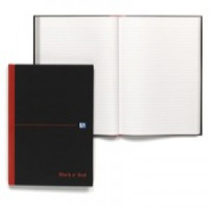 Black n Red Book Casebound 90gsm Ruled 192pp A4 Ref 100080446 [Pack 5]
