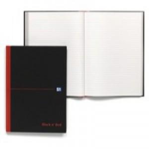 Black n Red Book Casebound 90gsm Ruled 192pp A4 Ref 100080446 [Pack 5]