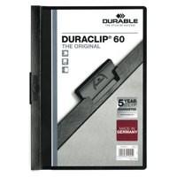 Durable Duraclip File A4 6mm Black Pk 25 2209/01