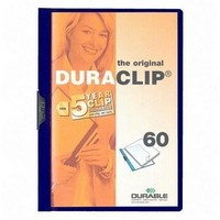 Durable Duraclip File A4 6mm Dark Blue Pk 25 2209/07