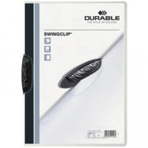 Durable Swingclip Folder A4 Black Pk 25 2260/01