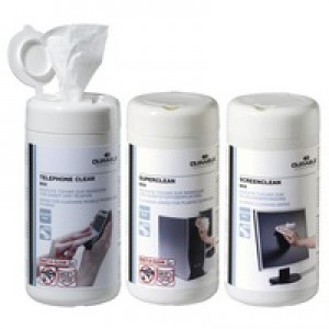 Durable Workstation Cleaning Wipes Screenclean Superclean Telephone Clean 100 Wipes Ref 5783[Triple Pack]