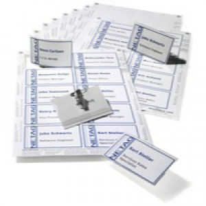 Durable Combi Name Badge Set 54x90mm Assorted 8182/00