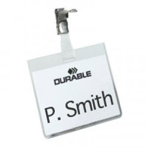 Durable Name Badges Security with Rotating Clip 60x90mm Ref 8003 [Pack 25]