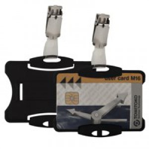Durable Security Pass Holder Pack of 25 Black 8118/01