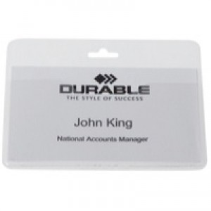 Durable Security/Visitor Badge without Clip Transparent Pack of 50 999108008