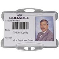 Durable Security Pass Holder without Clip Pk 50 999108011