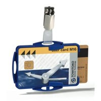 Durable Dual Security Pass Holder Pk 25 Blue 8218/06
