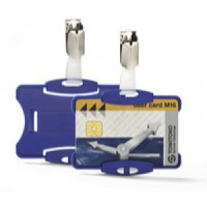 Durable Security Pass Holder Pack of 25 Blue 8118/06
