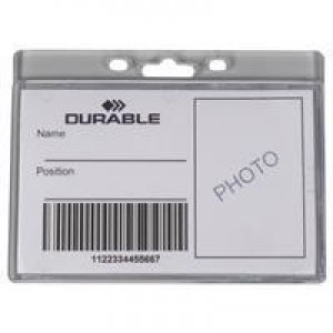 Durable Enclosed Proximity Card Holder Pack of 50 999108012