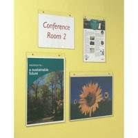 Deflecto Wall Sign Holder A4 Landscape Clear