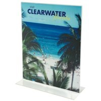 Deflecto Stand Up Sign Holder A5 Portrait Clear