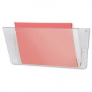 Deflecto Linking Wall File Pocket Foolscap+ Crystal DE74301