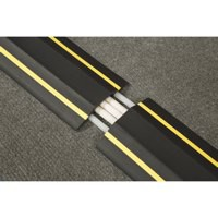 D-Line floor cable cover hazard 80mm 1.8m c/w connectors Yellow/Black fc83h