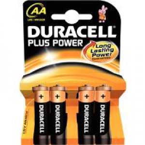 Duracell Plus Battery AA Pk 4 81275375