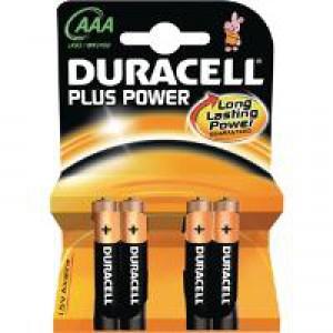Duracell Plus Battery AAA Pk 4 81275396