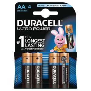 Duracell Ultra Battery Pack of 4 AA 75051955