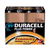 Image for Duracell Battery Plus 9V Pack of 4 75021488