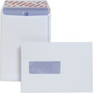 Plus Fabric Envelopes Pocket Peel and Seal Window 110gsm C5 White Pack 500 Code E24970