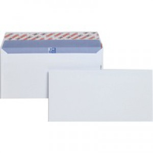 Plus Fabric Envelopes Wallet Peel and Seal 110gsm DL White Pack 500 Code E27370