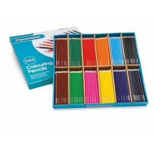 Eastpoint display box of 288 Classmaster Colouring pencil Assorted cp288