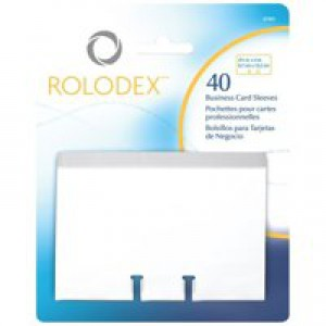Rolodex Business Card Sleeves Clear Pack of 40 S0793540