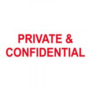 Colop Self-Inking Stamp Private/Confidential P20GLPRI