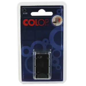 Colop E/20 Replacement Pad Black E20Bk Pack of 2