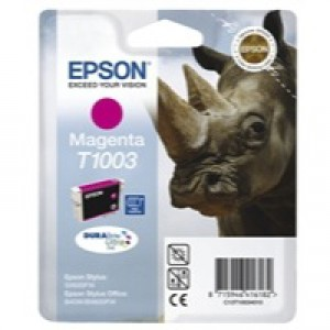 Epson SX610FW/B40/BX600FW Ink Cartridge Magenta C13T10034010