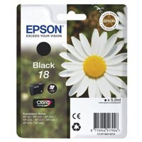Epson 18 Inkjet Cartridge Daisy Capacity 5.2ml Black Ref C13T18014010