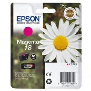 Epson 18 Inkjet Cartridge Daisy Capacity 3.3ml Magenta Ref C13T18034010