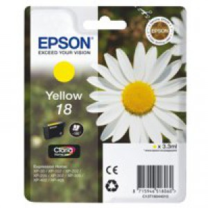 Epson 18 Inkjet Cartridge Daisy Capacity 3.3ml Yellow Ref C13T18044010