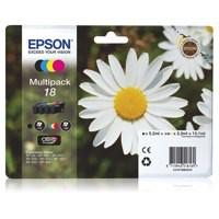 Epson 18 Inkjet Cartidges Capacity 15.1ml Total Black/Cyan/Magenta/Yellow Ref C13T18064010 [Pack 4]