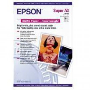 Epson Matt Photo Paper Heavyweight A3+ Pack of 50 C13S041264