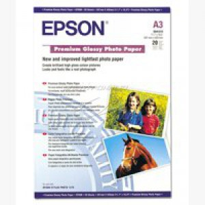Epson Premium Glossy Photo Paper A3 Pack of 20 C13S041315