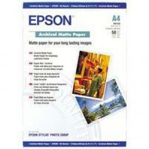 Epson A4 Archival Matt Paper Pack of 50 C13S041342