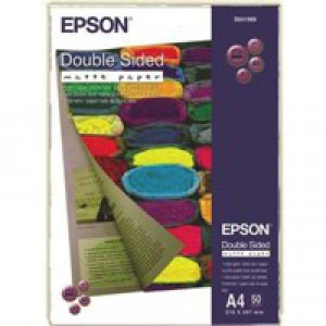 Epson Double-Sided Matt Photo Paper Heavyweight A4 Pack of 50 C13S041569