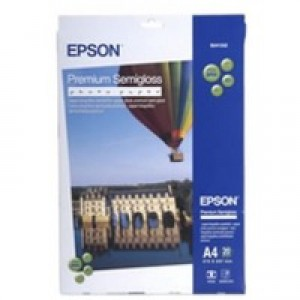 Epson Premium Semi-Gloss Photo Paper A2 Pack of 25 Sheets C13S042093