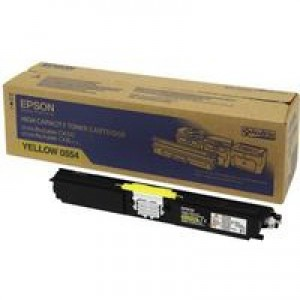 Epson AcuLaser C1600/CX16 Toner Cartridge High Capacity 2.7K Yellow C13S050554