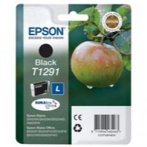 Epson T1291 Inkjet Cartridge DURABrite Apple L Capacity 11.2ml Black Ref C13T12914011