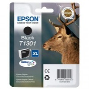 Epson T1301 Black Extra High Yield Inkjet Cartridge C13T13014010 / T1301