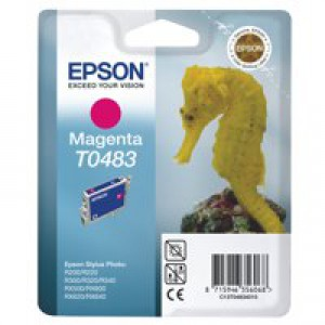 Epson R300/RX500 Inkjet Cartridge Magenta 13ml T0483 C13T048340